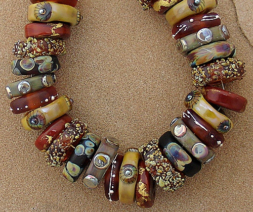 dsg lampwork beads organic handmade glass november moon ebay