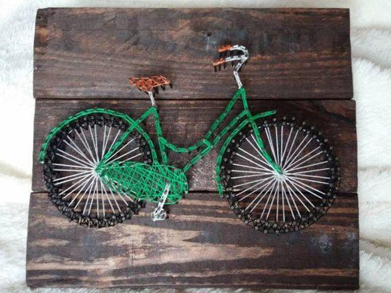 Bicycle String Art by JDavisCreations on Etsy