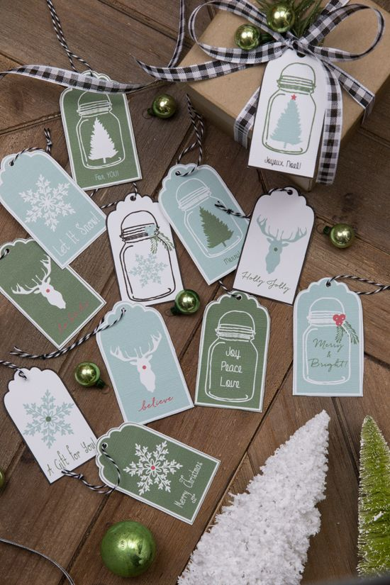 Christmas Printable Gift Tags | Finding Home Farms