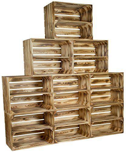 regal aus weinkisten obstkisten geflammt sets frei w hlbar angebote im shop ideal als. Black Bedroom Furniture Sets. Home Design Ideas