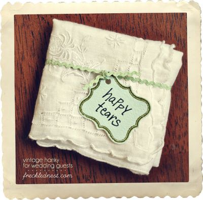 Vintage Hanky Gift Tutorial  byLeigh-Ann: Happy Tear, Vintage Hanky, Wedding Favors, Gifts Ideas, Wedding Ideas, Mothers Gifts, Great Gifts, Bride Groom, Mothers In Law