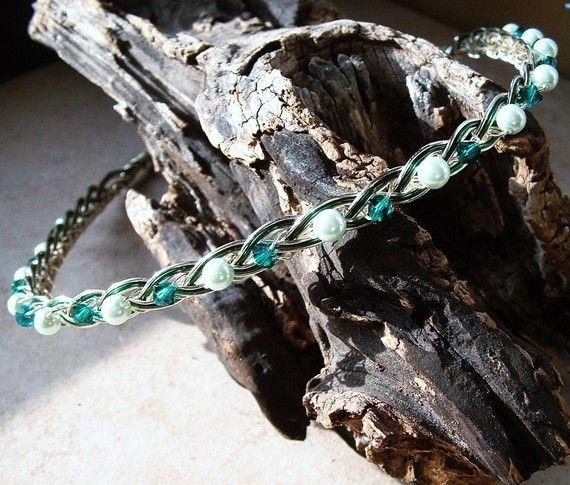 Emerald Isle Forest Fairy Irish Celtic Knot Circlet Headband