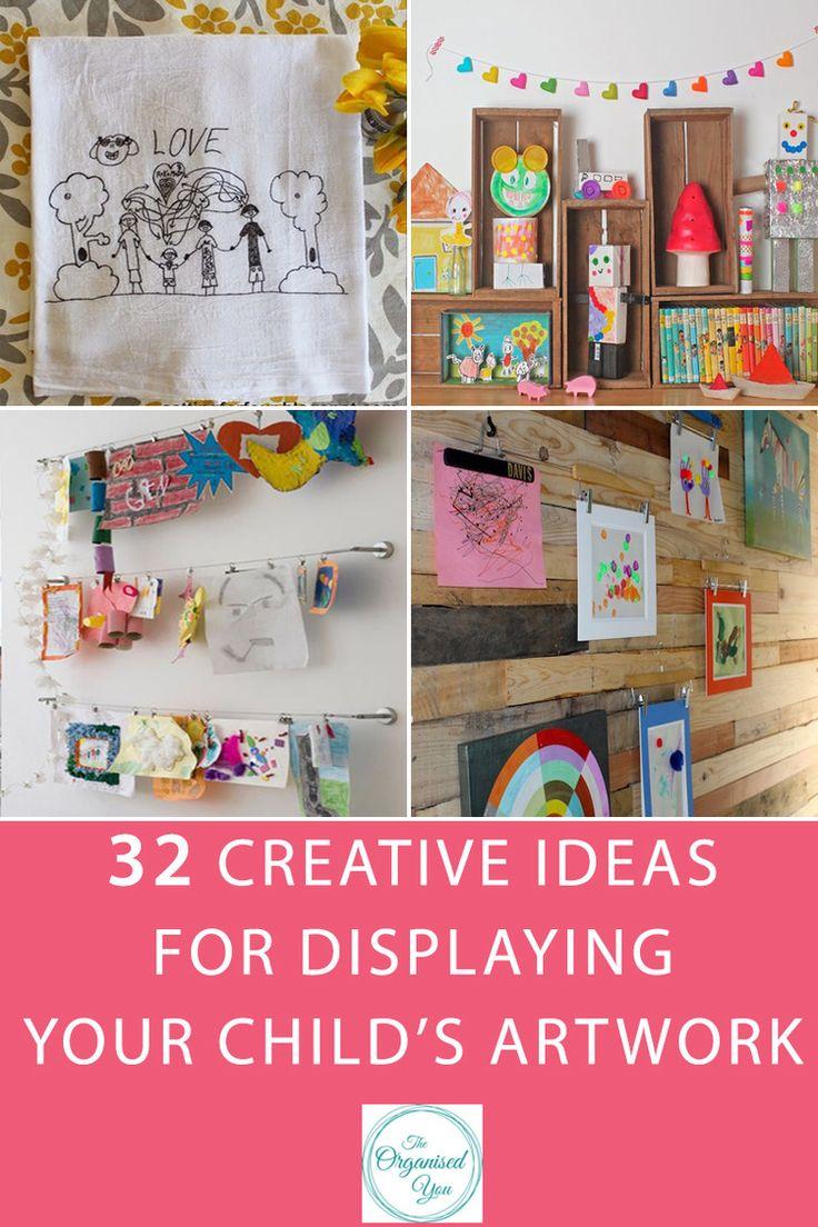 32 креативные идеи организации выставки детских работ