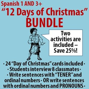 Image result for Some Spanish Words for the 12 Days of Christmas