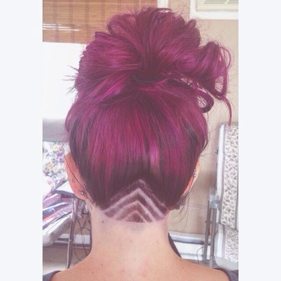 Girl Undercut Designs Triangle