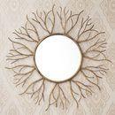 Bronzed Gold Twig Mirror