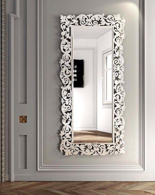 Rectangular Wall Mounted Framed Mirror Romantico Rectangular