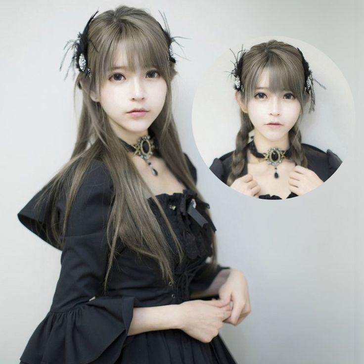 Aliexpress.com : Buy New Arrival Harajuku Anime yurisa 70cm Long Straight Dark Gray Mixed Cosplay Lolita Synthetic Wig 596A from Reliable wig picture suppliers on Fashion Master cosplay Wig | Alibaba Group