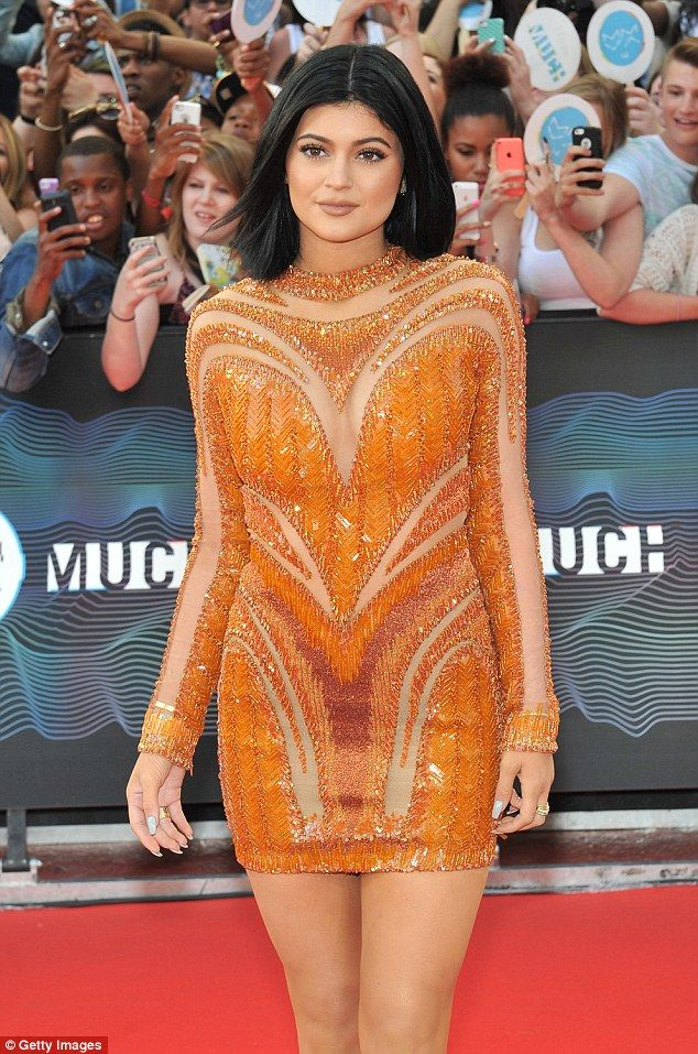 Grew up in the spotlight: Kylie has come of age onscreen in Keeping Up With The Kardashians; she is seen in 2014