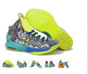 Nike Kevin Durant\u0027s KD V Grey/Green Basketball Shoes