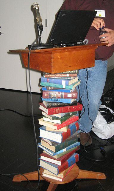 podium in the Portland (ME) Public Library,