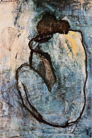 Blauer Akt, ca. 1902 Poster