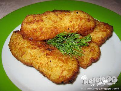 Reteta culinara Crochete de cartofi din categoria Aperitive / Garnituri. Specific Romania. Cum sa faci Crochete de cartofi