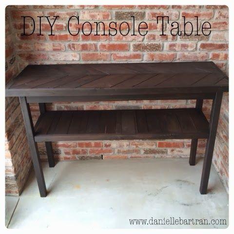 Entryway Console Table {DIY}