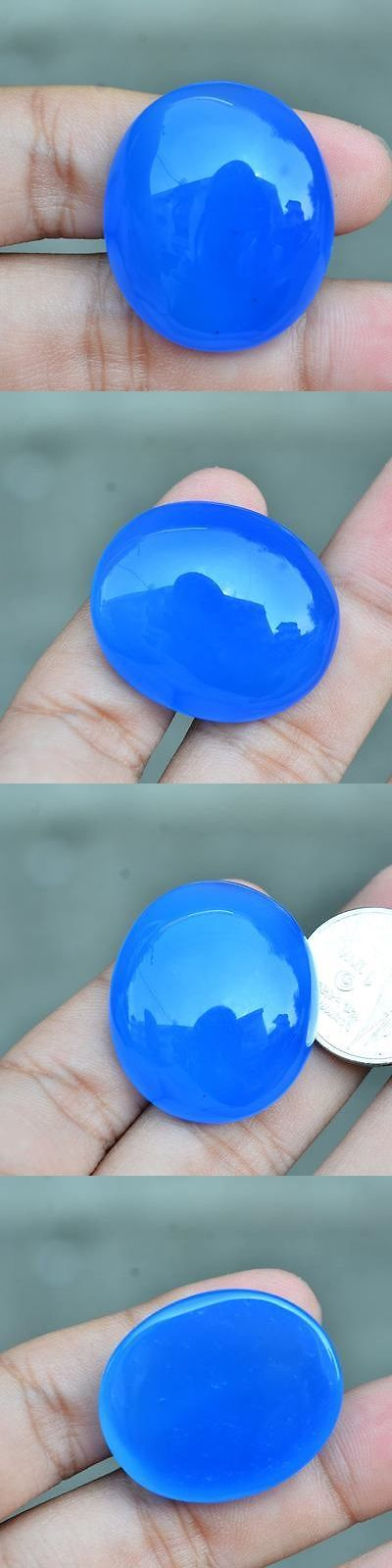 Chalcedony 110791: 52.62Ct Natural Cabochon Unheated Blue Chalcedony Africa #W -> BUY IT NOW ONLY: $34.99 on eBay!