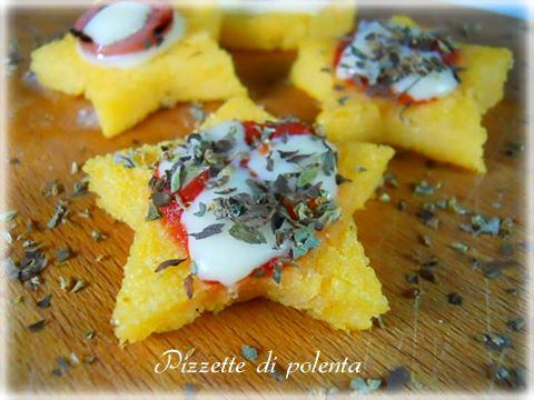 Pizzette di polenta, finger food