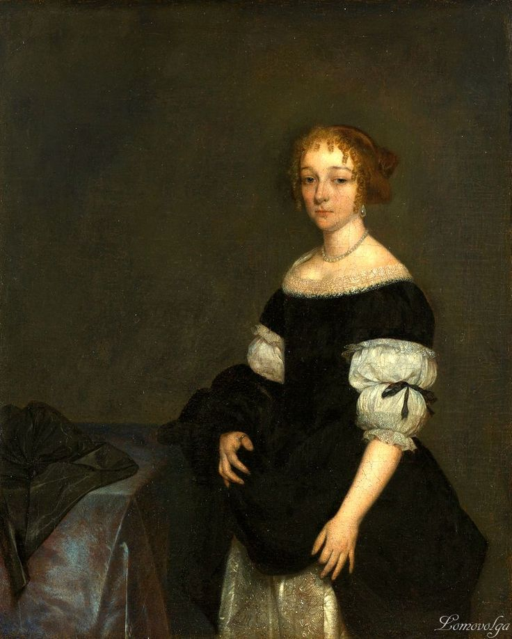 Герард Терборх (Gerard Terborch, 1617-1681, Dutch artist). Aletta Pancras (1649-1707)