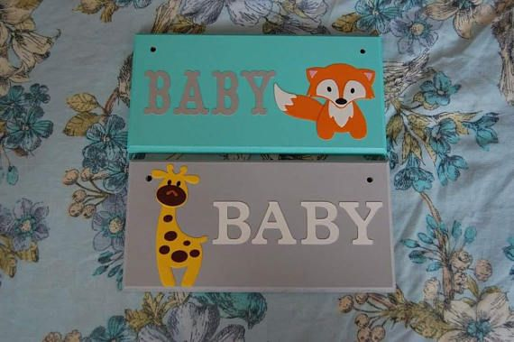 Baby Door plaque baby Door sign. Nursery decor baby shower