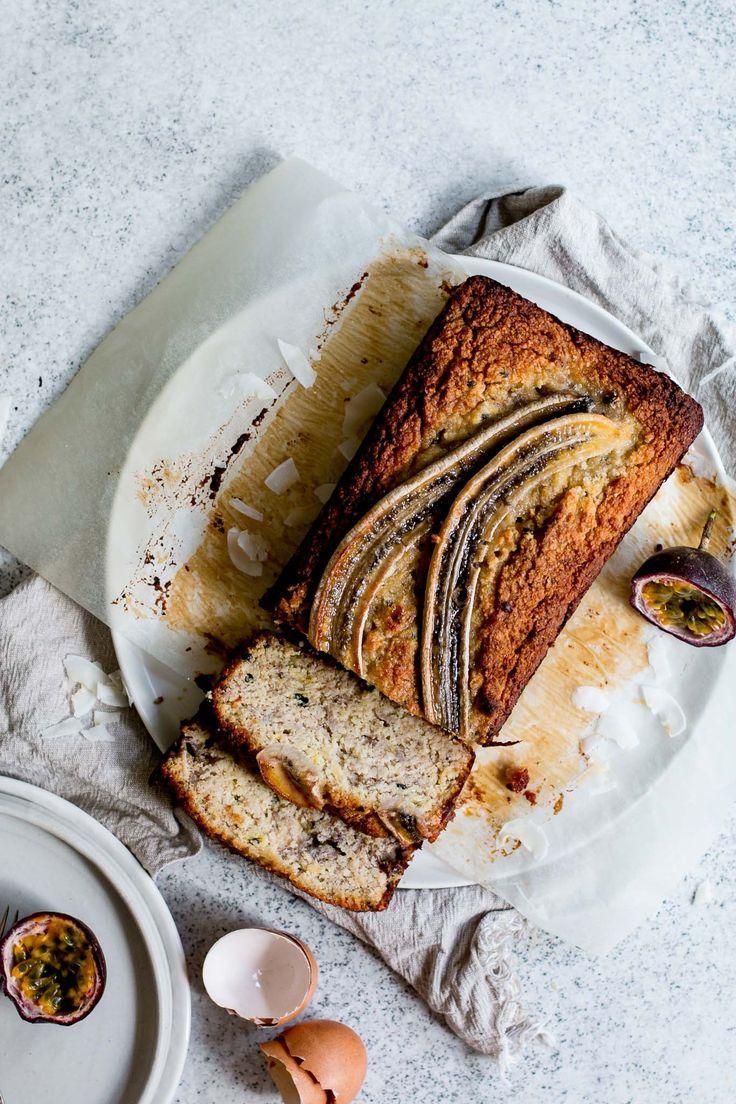 Passion fruit banana loaf