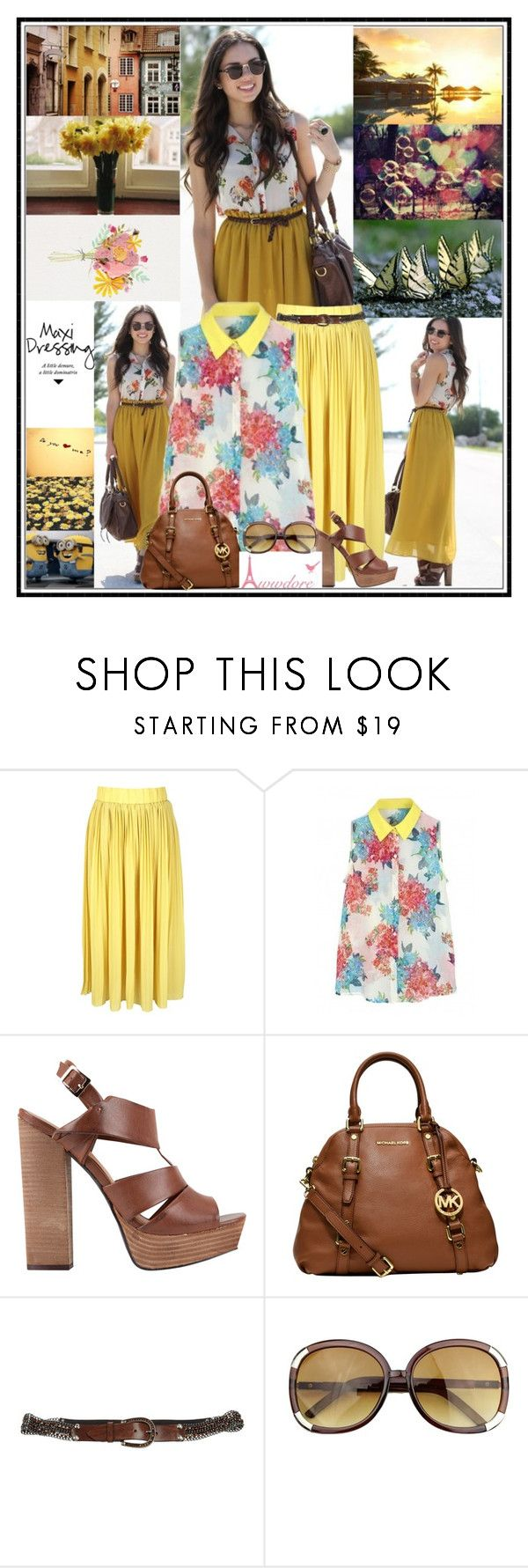 """""""Shaped to the comfort of us, two lovers locked out of ❤"""" by leannesugarplum ❤ liked on Polyvore featuring MIA, MICHAEL Michael Kors, Nanni and vintage"""