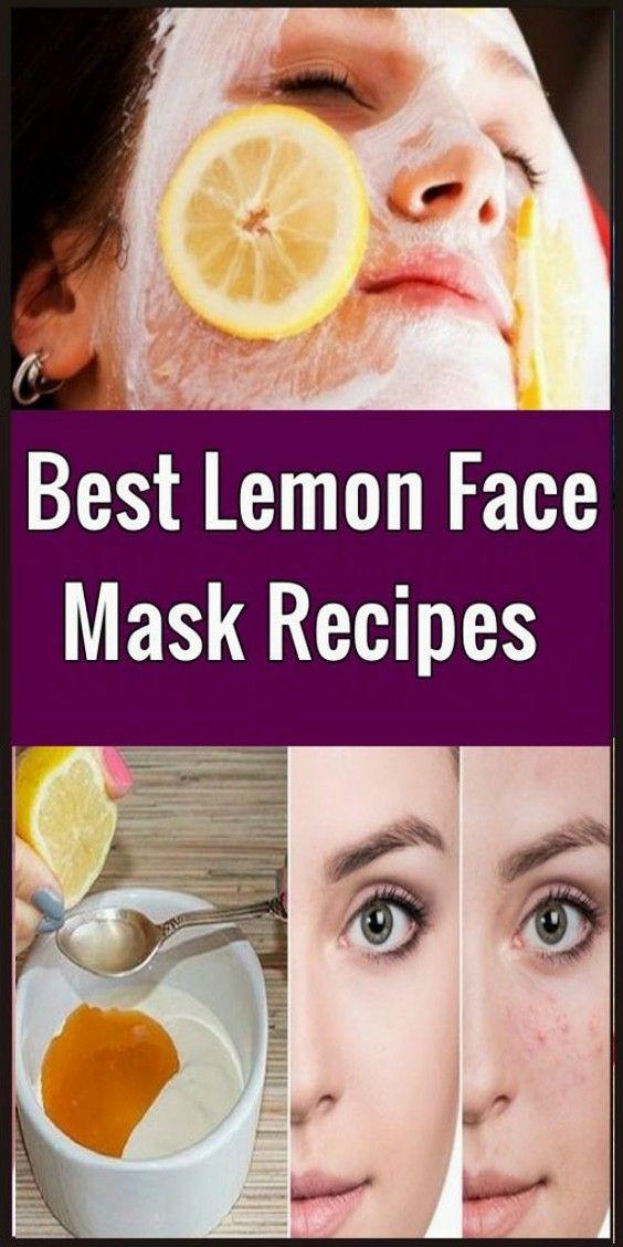 Best Lemon Face Mask Recipes – Beauty 4 You #Cinna…