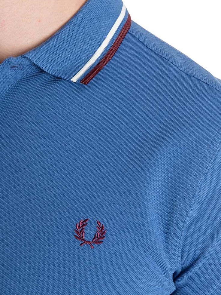 FRED PERRY polo in piquè di cotone - M3600 430 SCHOOL BLUE