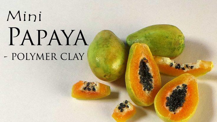 Papaya mini con porcelana fría