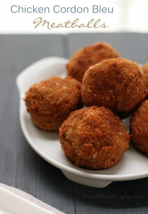Chicken Cordon Bleu Meatballs – Low Carb and Gluten Free