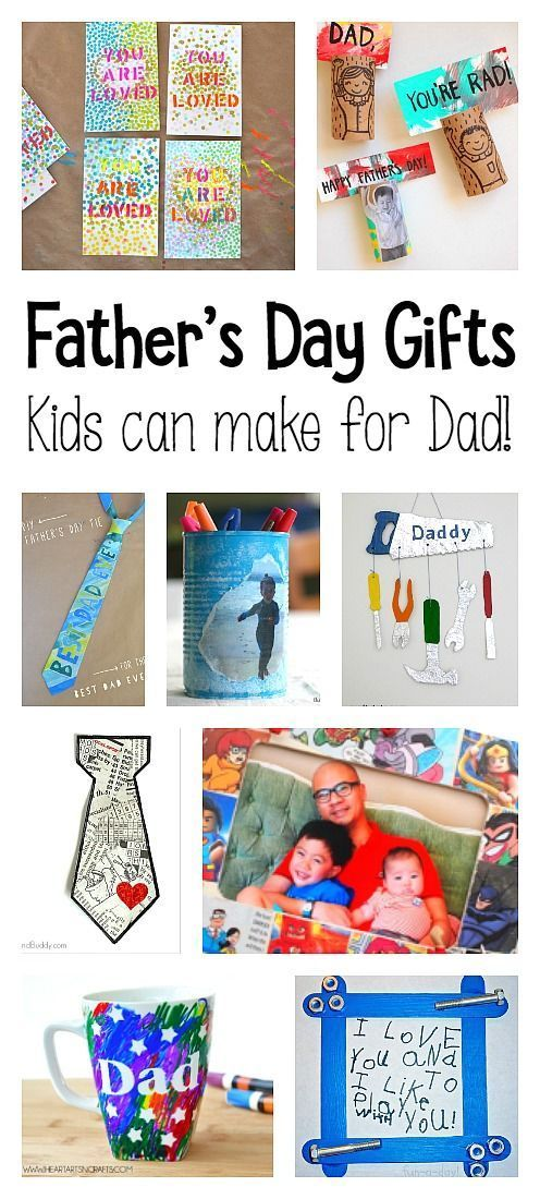 18 Homemade Father's Day Gift Ideas: DIY gifts kids can make Dad including picture frames, bookmarks, pencil cup holders, and more!