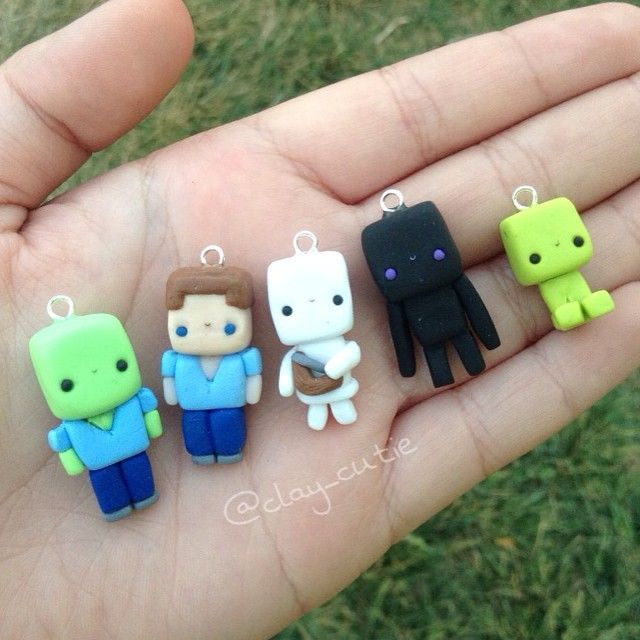 Hey everyone! Today I have the minecraft chibis inspired by the amazing @rianne_creates !! I just had to make them! I hope you guys like them!  #polymerclay #minecraft #riannecreates #cute