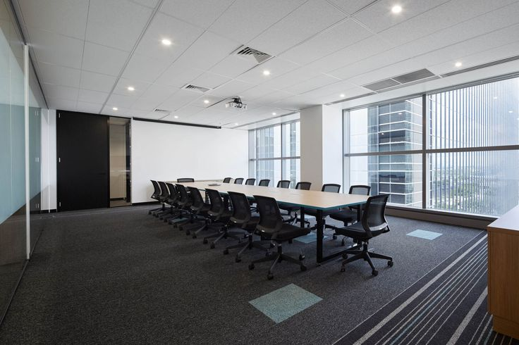 M2 Telecommunications. Open space -boardroom meeting room. By STUDIOMINT Melbourne Australia