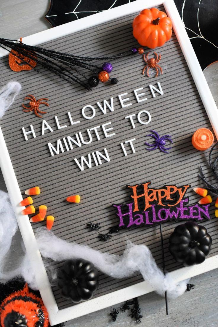 7 Fun Halloween Minute to Win It Games