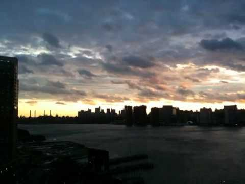 Goodnight, Irene: Today's Sunset Time-Lapse Movie 08/28/11 by Henry Sene Yee. The last of Hurricane Irene leaving NYC. Music by Leadbelly. #movie #time-lapse