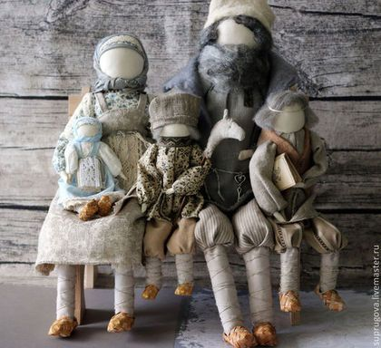"""Народные куклы ручной работы. Ярмарка Мастеров - ручная работа. Купить """"Счастливое семейство"""" Авторская кукла-образ.. Handmade. Серый"""