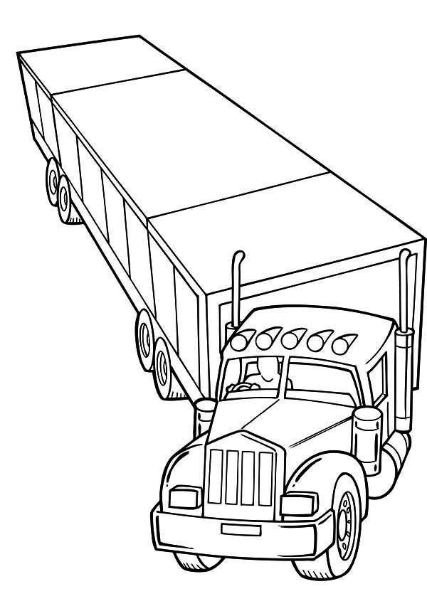 Coloring Pages Of Trucks And Trailers Here Home Semi Semi Tractor Coloring Pages To Pr Monster Truck Coloring Pages Truck Coloring Pages Tractor Coloring Pages