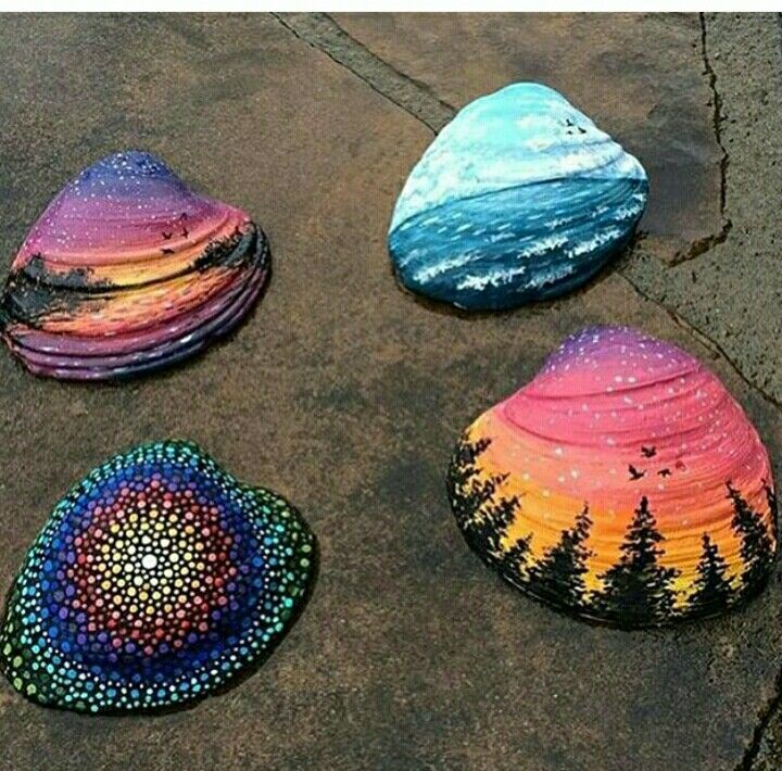 Best 25 painted sea shells ideas on pinterest shell art for Shell diy