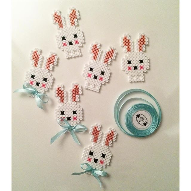 Easter bunnies hama beads by sarahnorgaard