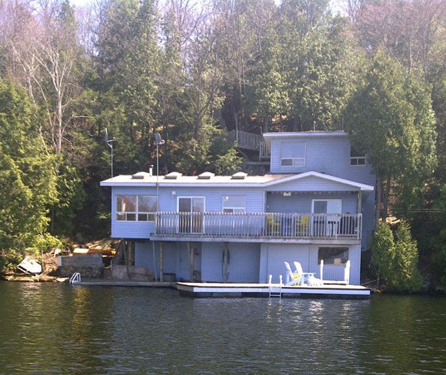 364.13A  4 Bedroom Cottage sitting on the edge of spring fed Otter Lake, just a 2 hr from the GTA. A picturesque and private location with lots of decking over the lake where you can sit and enjoy the sunsets. Large new docking at water`s edge for boating and swimming. Cozy clean cottage interior. Cottage comes totally furnished along with two kayaks. Come see for yourself.  $349000