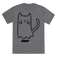 Wish   Ghost Cat Heather Gray T-Shirt