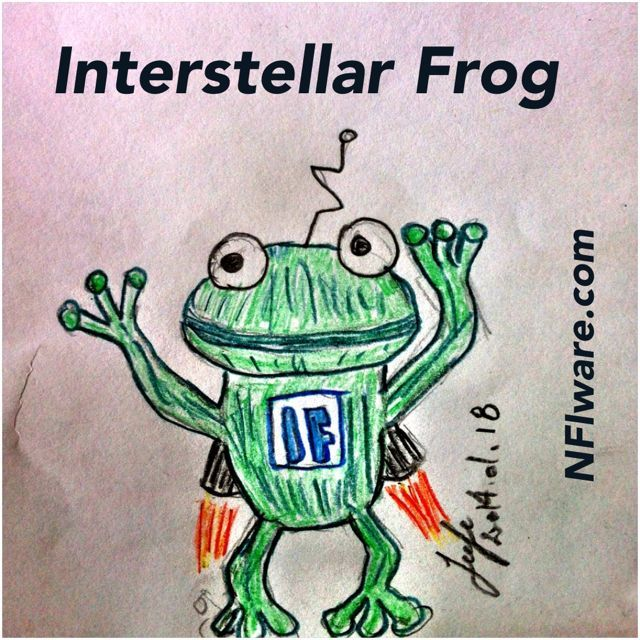 Interstellar Frog. Saving the universe, one pond at a time!
