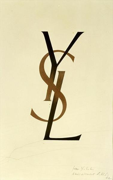 Original YSL logo design