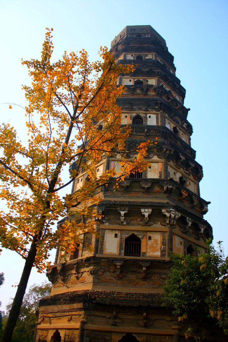 tiger hill pagoda, suzhou, china; august 2002