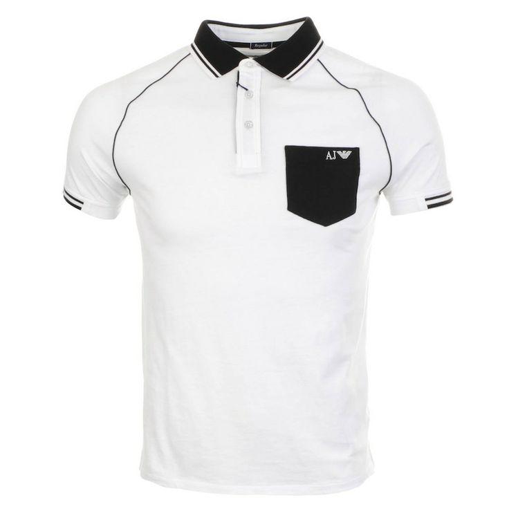 Armani Jeans Regular Polo T Shirt White