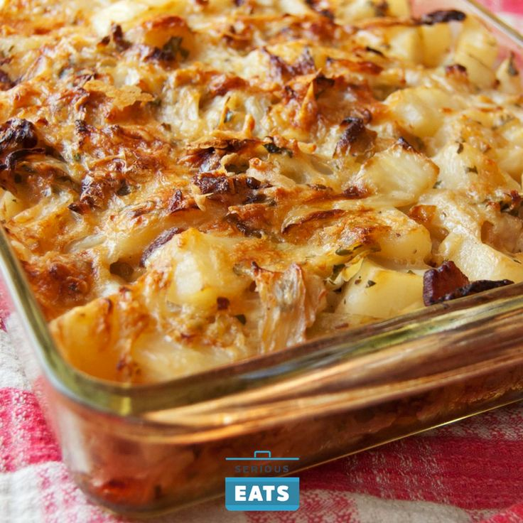 This dish combines the simple, down-to-earth elements of cabbage, onions, potatoes, and bacon into a browned, bubbling, aromatic casserole that's perfect for Thanksgiving or any chilly day.