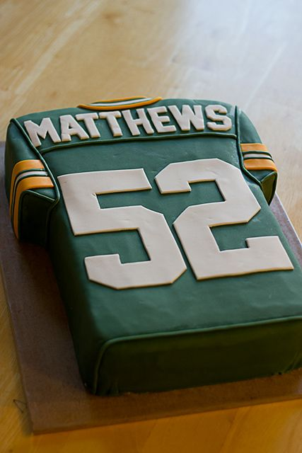 Green Bay Packers Football Jersey Cake