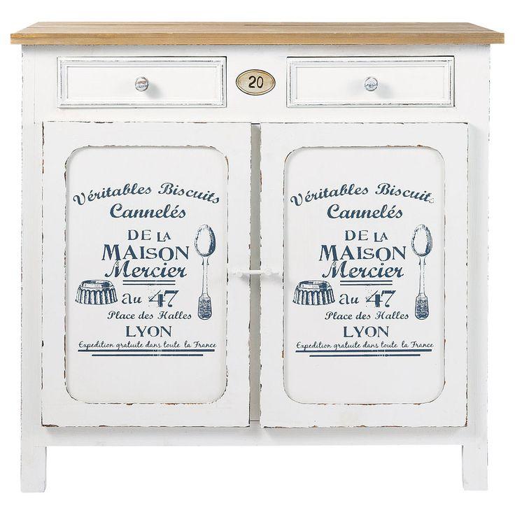 Credenza bianca in legno L 90 cm Pâtissier | Maisons du Monde