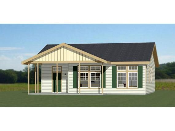 36x32 House 2 Bedroom 2 Bath 1082 Sq Ft Pdf Floor Etsy Square House Plans House Building A House