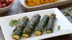 This hasselback zucchini is loaded with flavor—the perfect side dish for a 4th of July cookout!