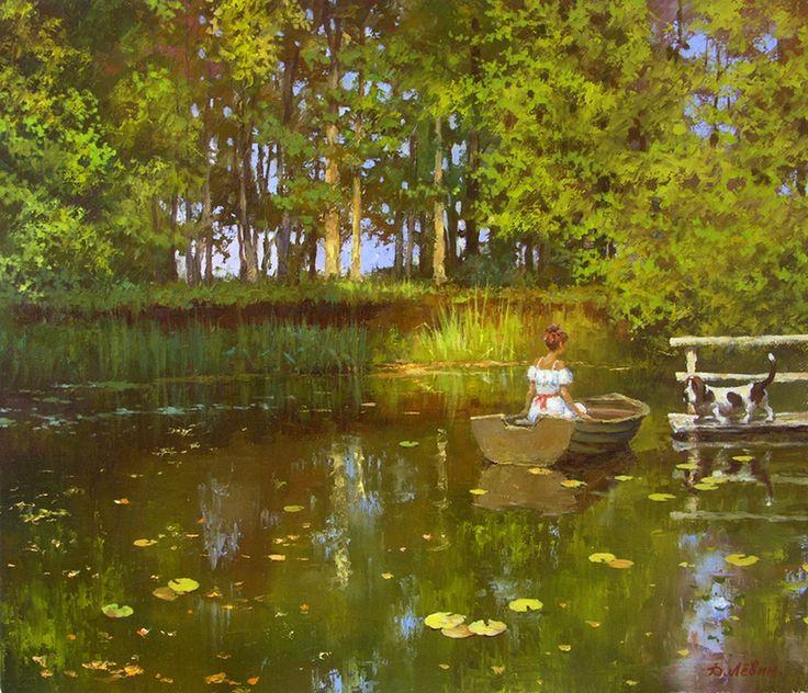 Вдали от суеты: деревенская живопись Дмитрия Лёвина 1