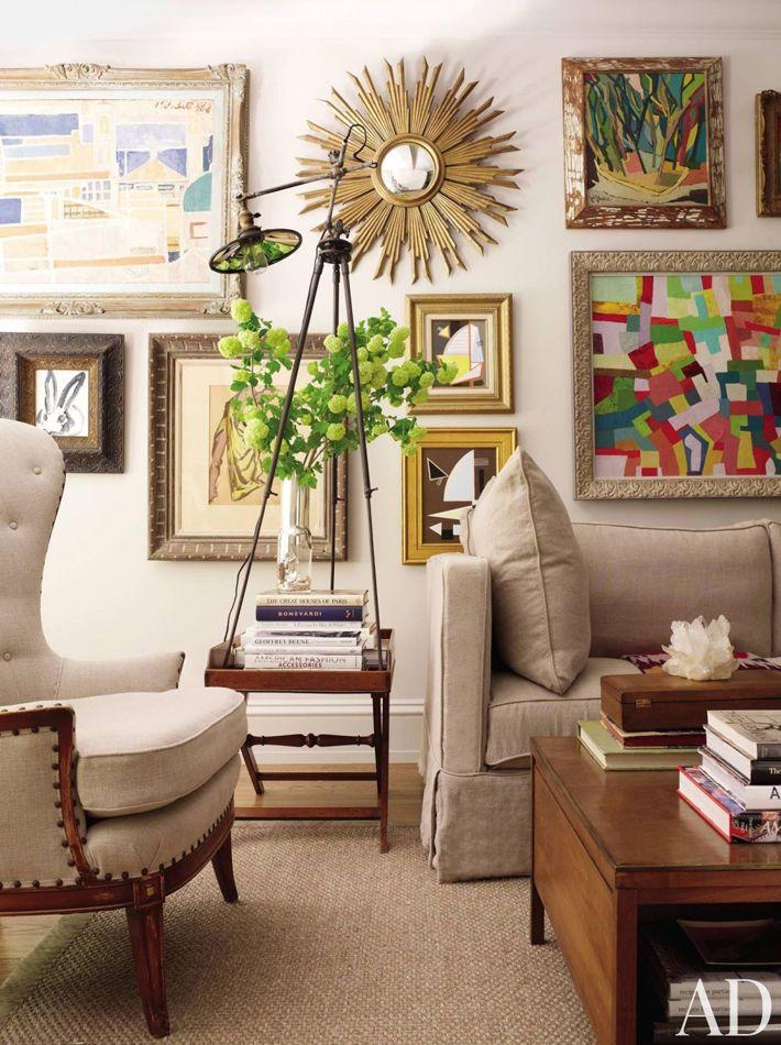 classic linen furnishings + gallery wall